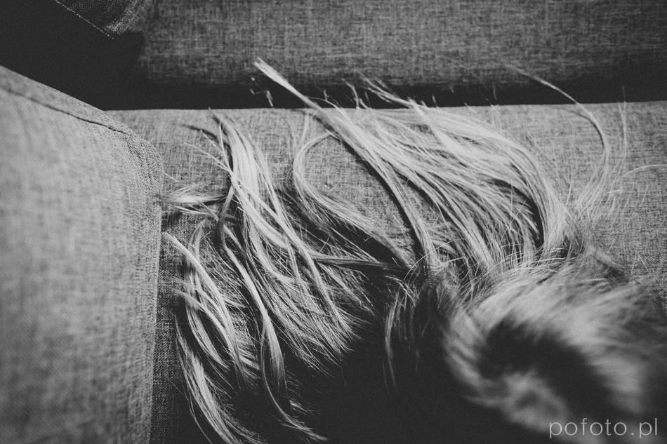 zdjęcie pięknych kobiecych włosów
