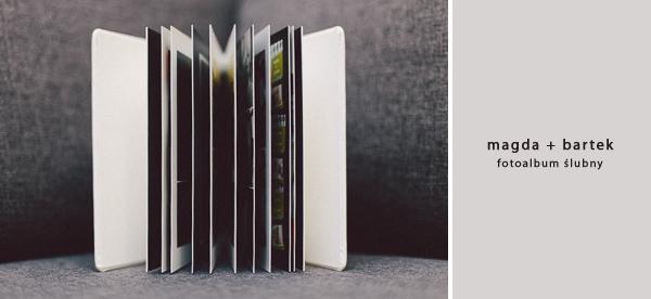 elegancki fotoalbum ślubny z 10 rozkładówkami w białej ekoskórze