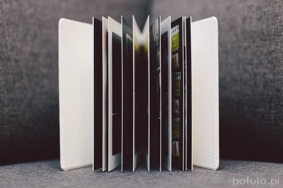 Elegancki, minimalistyczny fotoalbum ślubny dla Pary Młodej