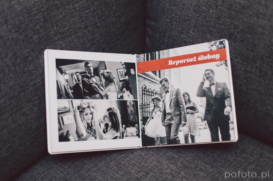 pierwsza rozkładówka fotoalbumu slubnego Magdy i Bartka