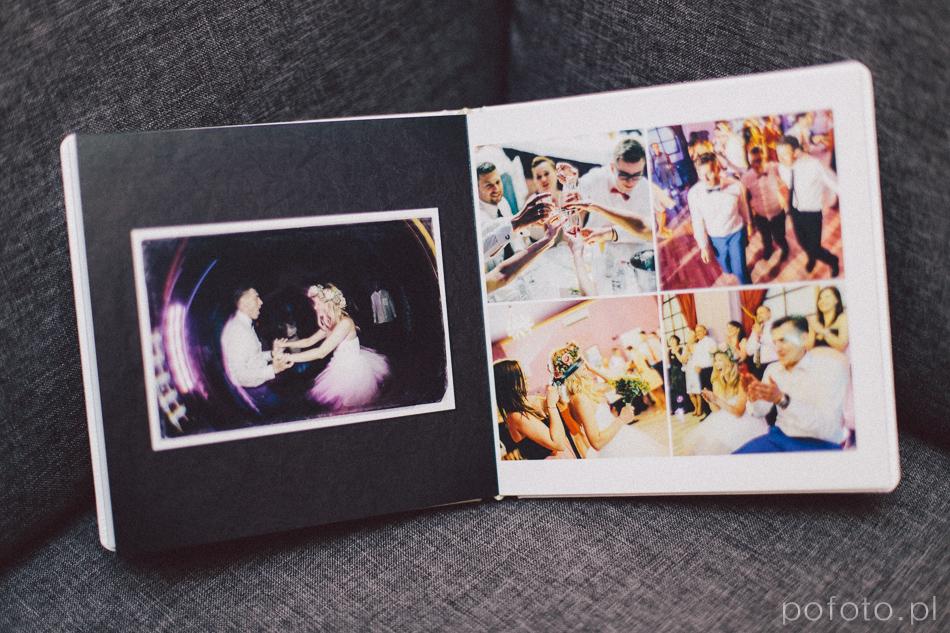 przyjecie ślubne i zabawa na rozkałdówce fotoalbumu ślubnego