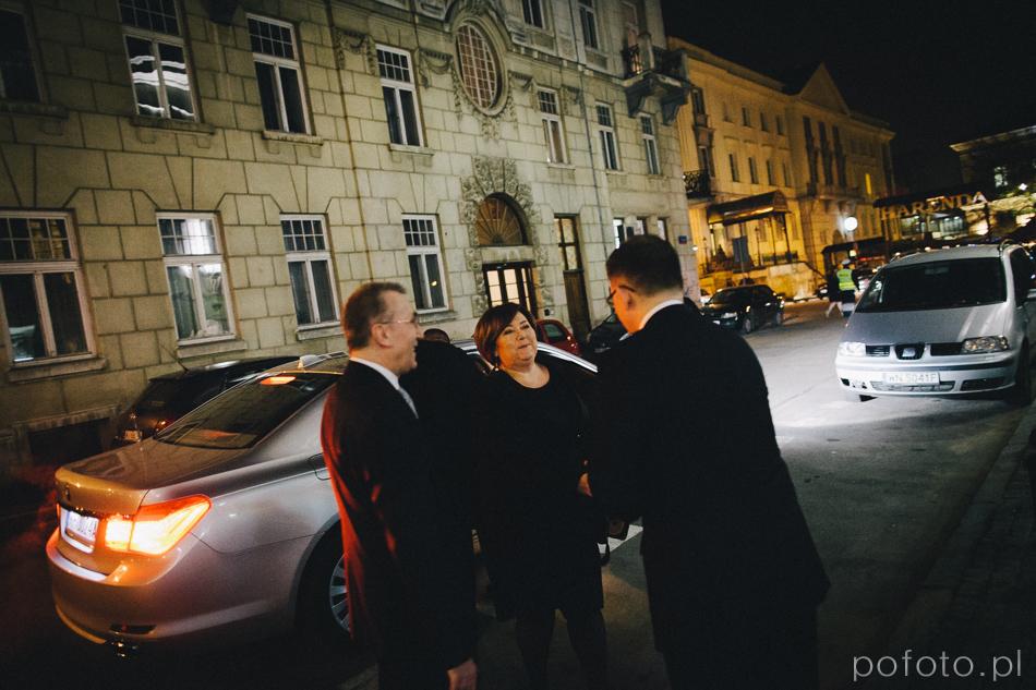 Pierwsza dama Rzeczypospolitej Polskiej Anna Komorowska podczas Gali języka ojczystego 2014 w teatrze polskim w warszawie