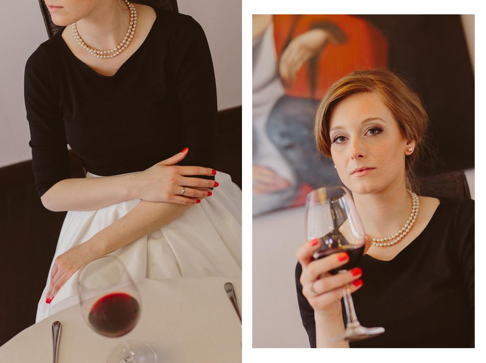 portret kobiety. Stylizacja na lata 50-te
