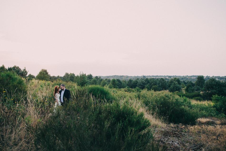 para młoda, zdjęcie z pleneru ślubnego, park krajobrazowy wzniesień łódzkich